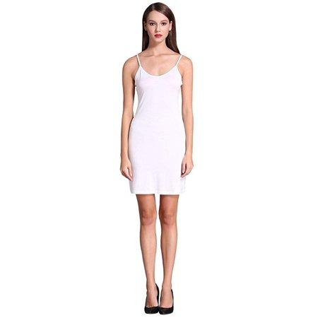 c8da5c8f2d0 Freshlook - Women s Long Spaghetti Strap Cami Active Basic Camisole Slip  Dress - Walmart.com