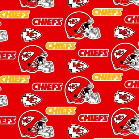 6b06f4fc NFL Kansas City Chiefs Fleece Fabric, per Yard - Walmart.com