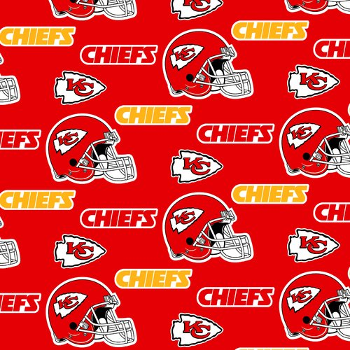 NFL Kansas City Chiefs Fleece Fabric