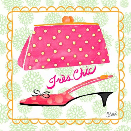 Tres Chic Vintage (Tres Chic Vintage Fashion Poster Print by Studio Bella)