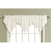 United Curtain Co., Inc. Anna Solid Color Faux Silk Ascot Valance with Tassel