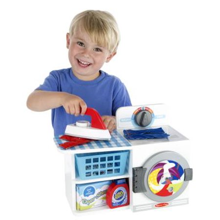 Melissa Doug Wash Dry And Iron Play Set Pretend Play Laundry Cleaning Set