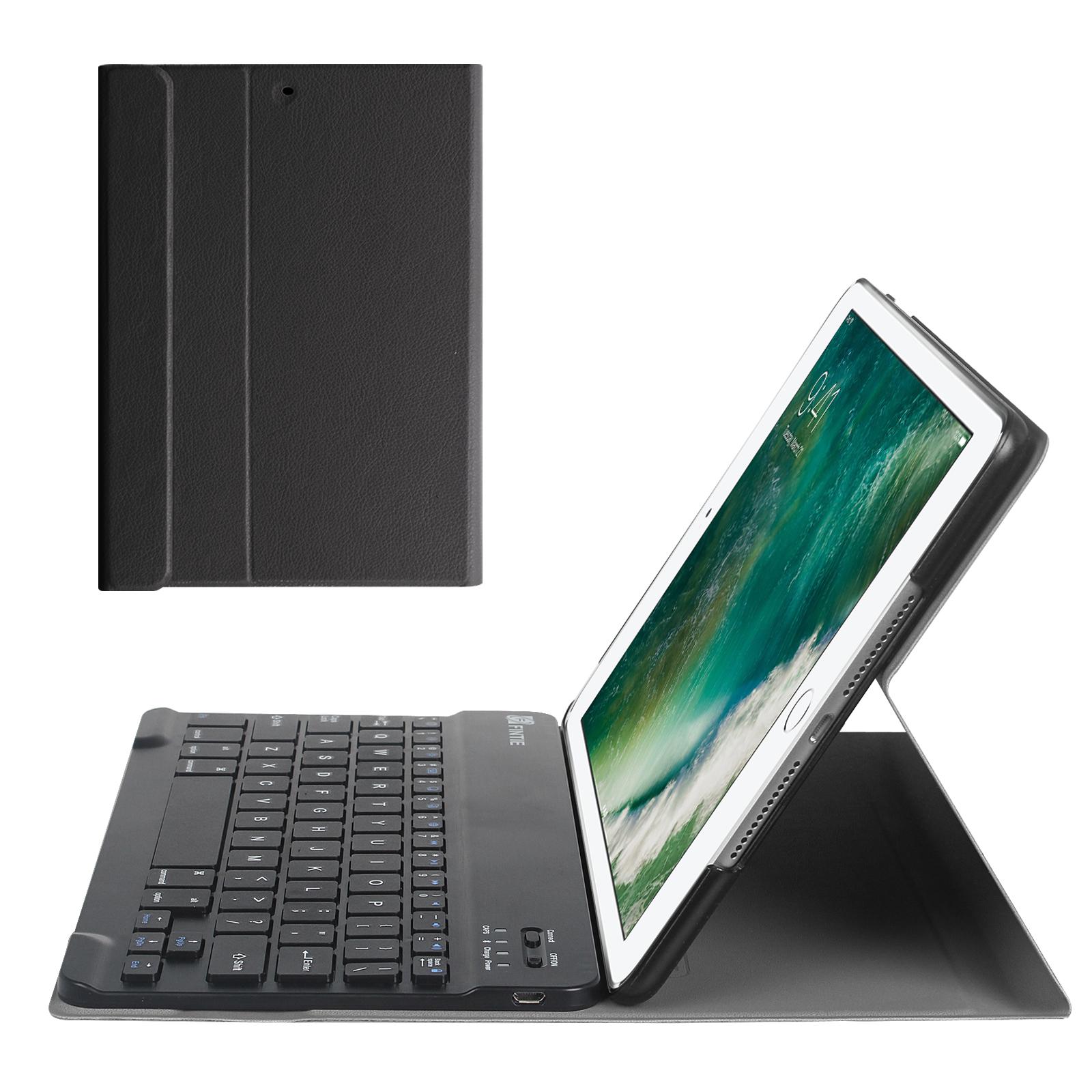 Fintie SlimShell Keyboard Case Cover for iPad 9.7 Inch 6th Gen 2018 / 5th Gen 2017 / iPad Air 2 / iPad Air, Black
