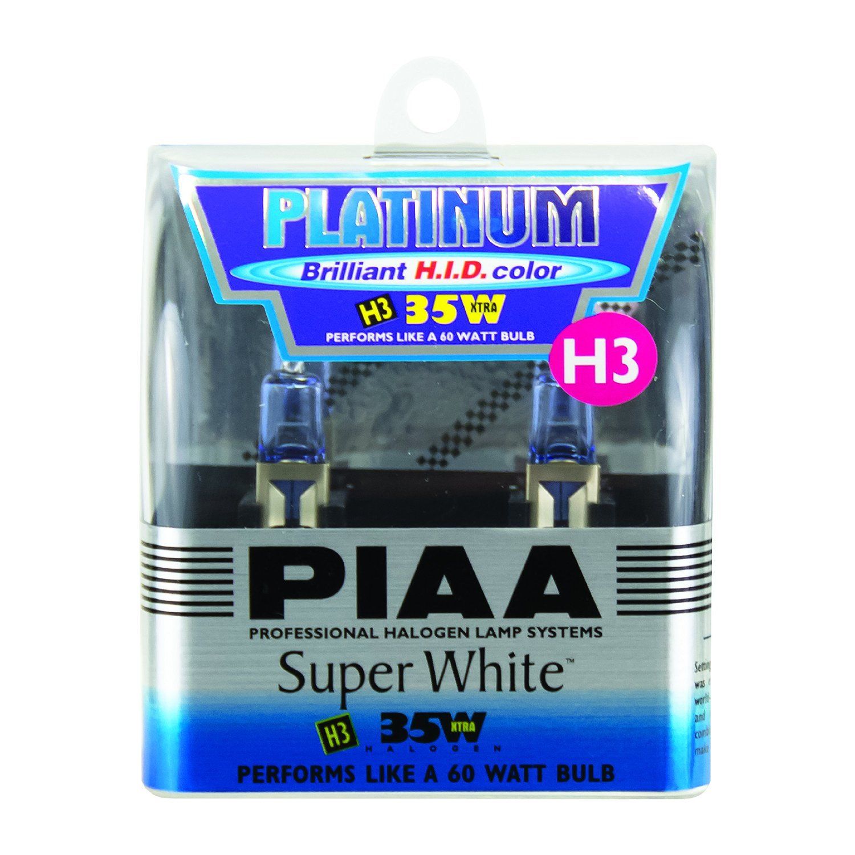 PIAA H3 Platinum Xtra Super White 35W=60W Light Bulbs Twin Pack 15635