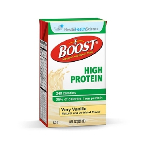 Boost High Protein, Very Vanilla, 8 oz Carton - Pack of 6