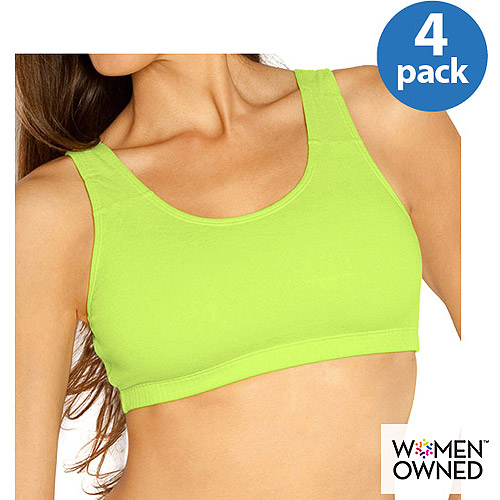 Fruit of the Loom - Built Up Sports Bra - 4 Pack, Style 9012F