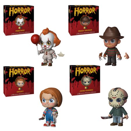 Funko 5 Star Vinyl Figures - Horror S1 - SET OF 4 (Jason, Freddy, Pennywise & Chucky) (Chucky Halloween Horror Nights)