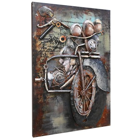 Asmork 3D Metal Wall Sculpture - 100% Handmade Metal Unique Wall Art -