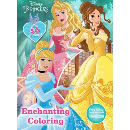 Disney Princess Enchanting Coloring By Princess (Hardcover) - Kid Friendly Halloween Coloring Pages