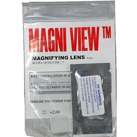Magni Specs Magnifier (MAGNI-VIEW 2x Mask Magnifying Lens Great for Scuba Divers and Water Sports )