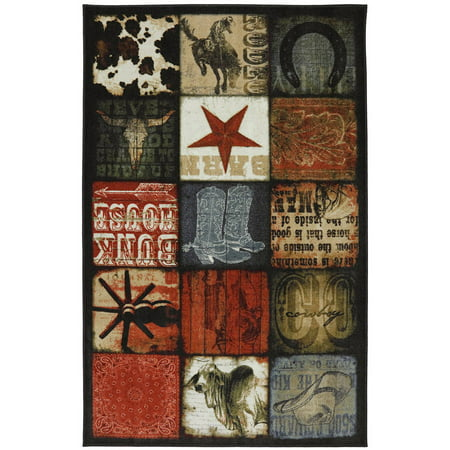 Cowboy Patches Multi Rug