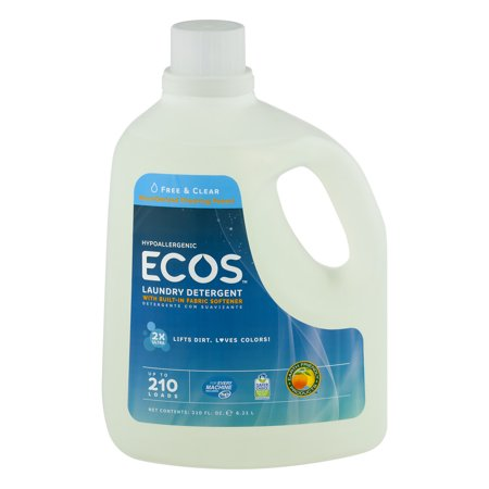 Ecos Hypoallergenic Laundry Detergent With Built In Fabric Softener Free   Clear  210 0 Fl Oz