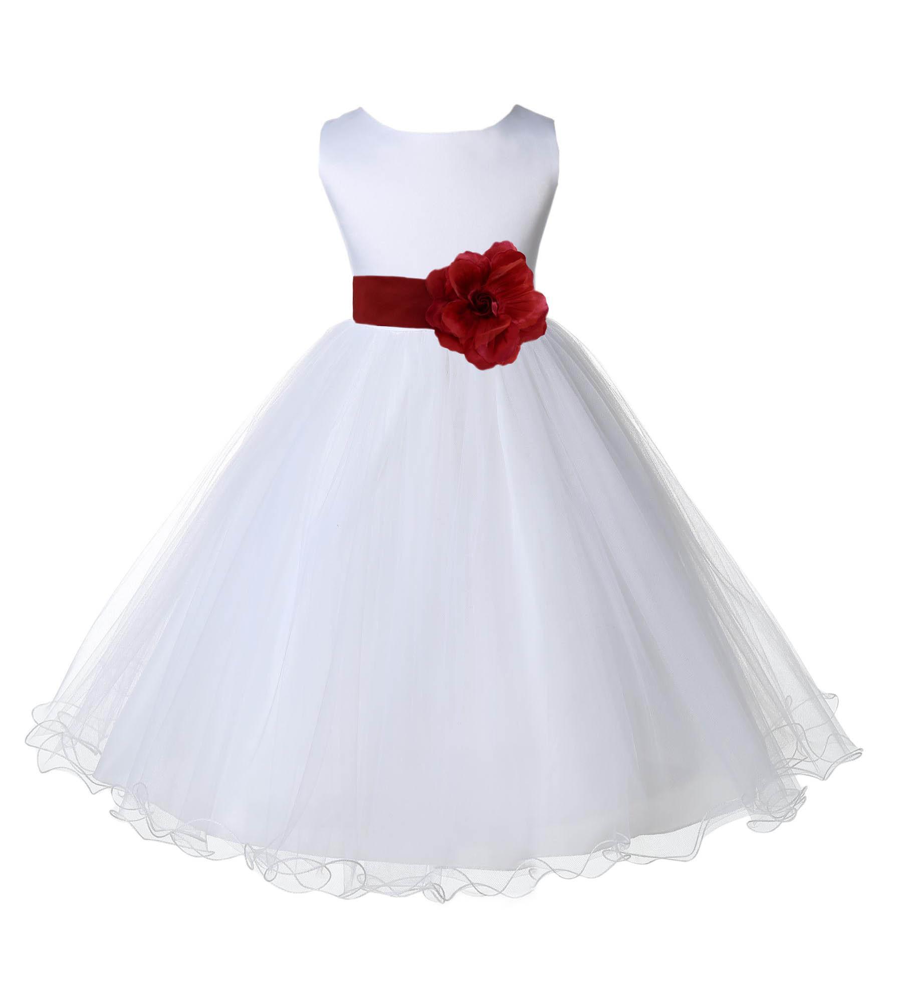 Petals Flower Baby Girl Wedding Easter Junior Bridesmaid Baptism Kid Dress 0-24M