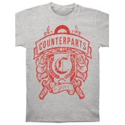 Counterparts Men's  Candles And Knives Crest T-shirt Grey