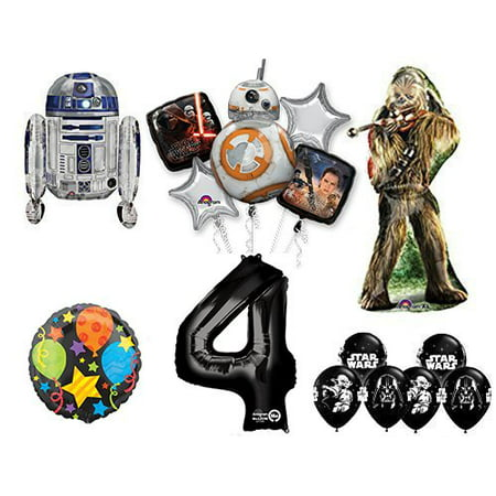 The Ultimate Star Wars 4th Birthday Party Supplies and Balloon decorations - Star Wars Birthday Decorations