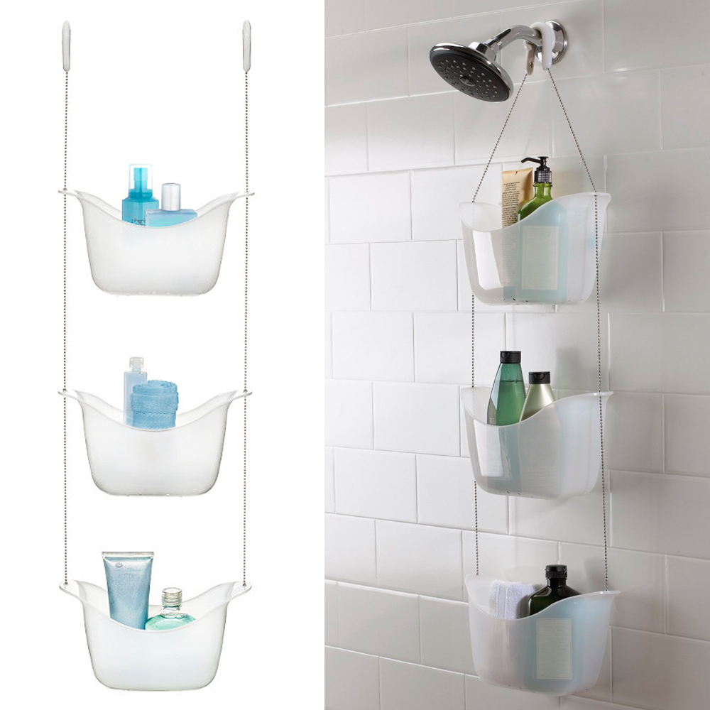 3 Basket Umbra Shower Rack Shelf Caddy Hanging Organizer Bath Bathroom  Holder