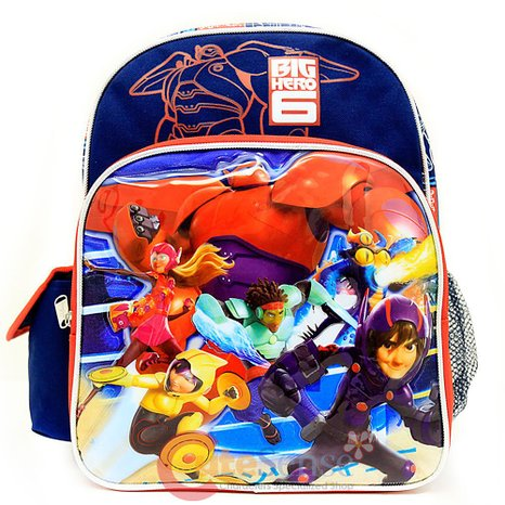 "Small Backpack - Disney - Big Hero 6 School Bag 12"" New 652449"