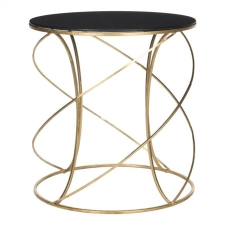 Hawthorne Collection Iron and Glass Accent Table in Gold and Black - image 1 de 1