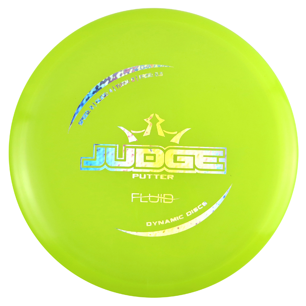 Dynamic Discs Fluid Judge 170-172g Putter Golf Disc [Colors may vary] - 170-172g