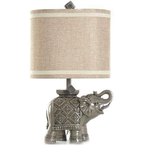 Better Homes and Gardens Elephant Table Lamp, Gray