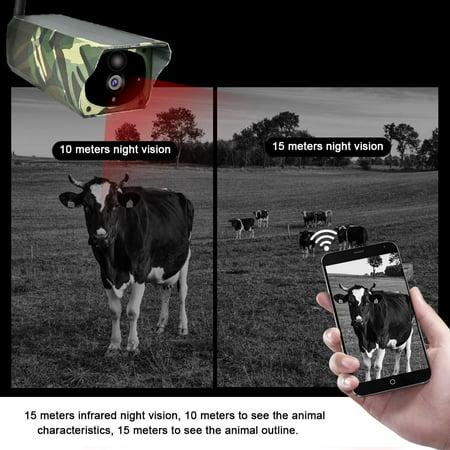 Domqga Solar Camera, Security Camera, 1080P HD Solar Wifi Camera Outdoor Wireless Security Camera Camouflage - image 3 of 11