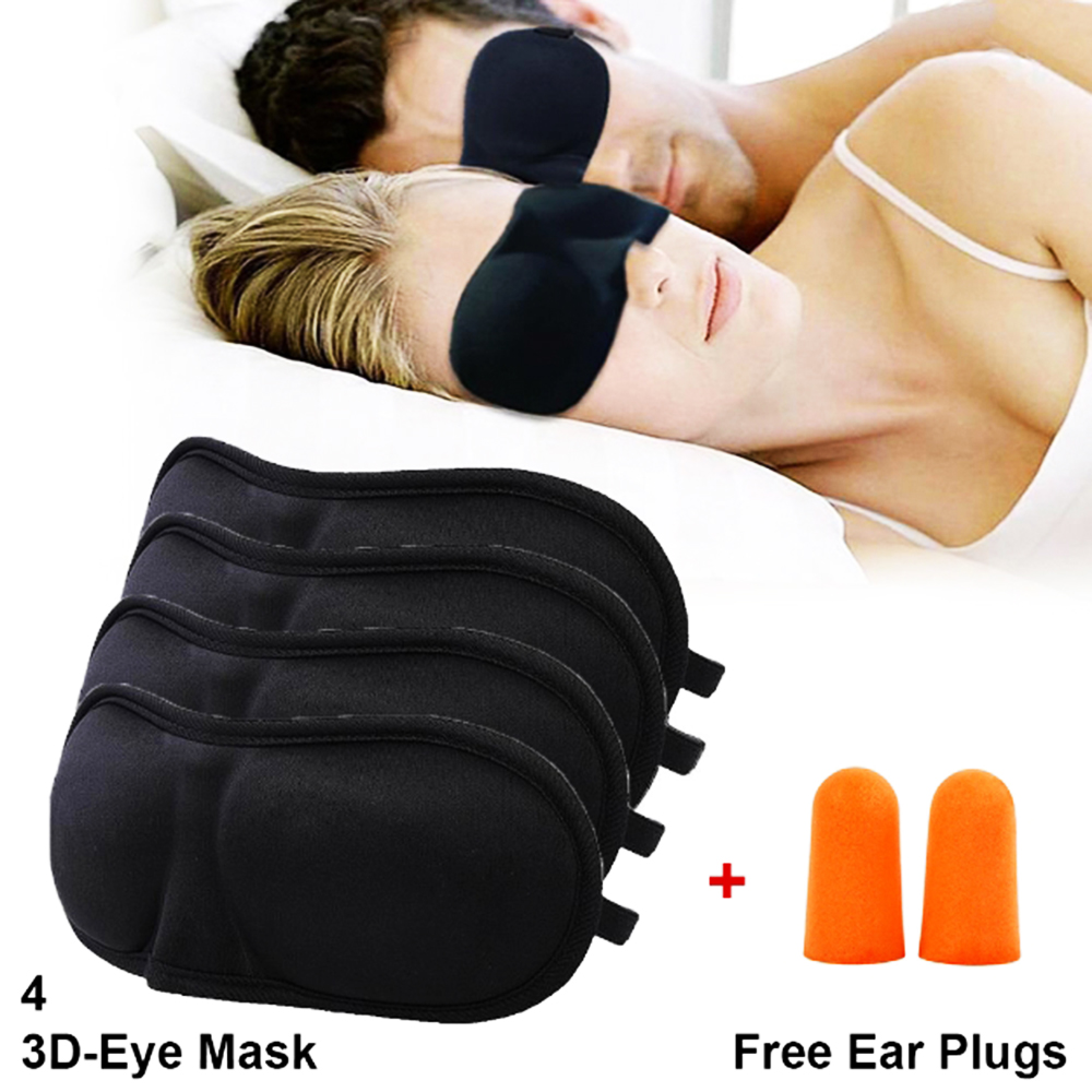 Eye Mask For Sleeping 4 Sleep Mask Free Ear Plugs 3d Contoured Sleep
