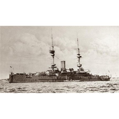 The British Battleship Majestic Later Torpedoed & Sunk by An Enemy Submarine During World War I From the Illustrated 1 Poster Print, 19 x 11 - image 1 of 1