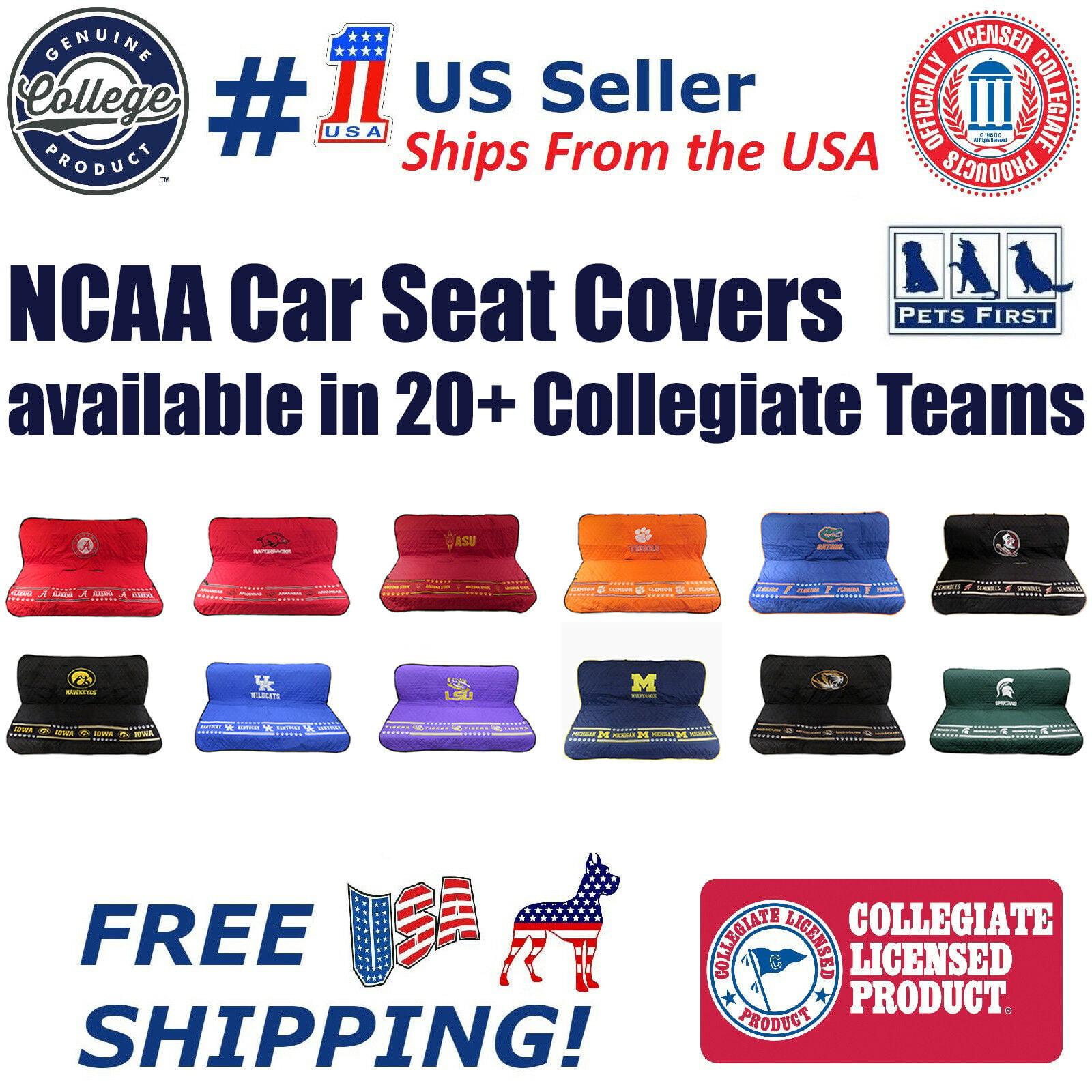 LSU Tigers Premium Pet Dog Waterproof Car Seat Cover