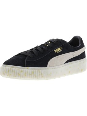 buy online ad912 62694 Product Image Puma Women s Suede Platform Celebrate Black   White Gold  Ankle-High Leather Fashion Sneaker -
