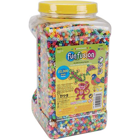 Polygon Bead - Perler Fuse Beads Fun Fusion Multi-Mix, 22,000 Pieces