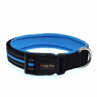 VicTsing Reflective Personalized Comfortable Breathable Non-Sticking Non-Wool Pet Collar Necklace,blue,S