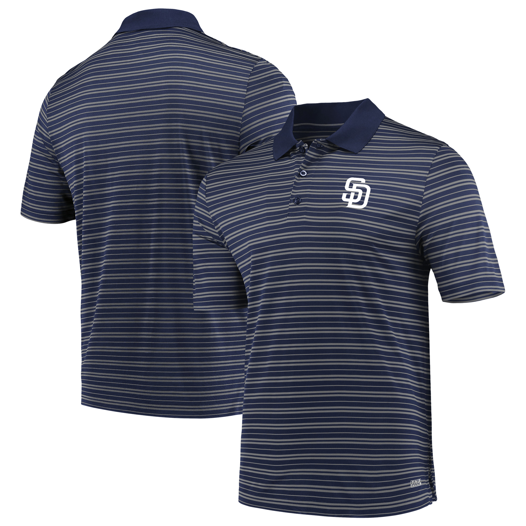Men's Majestic Navy San Diego Padres Fan Engagement Polo