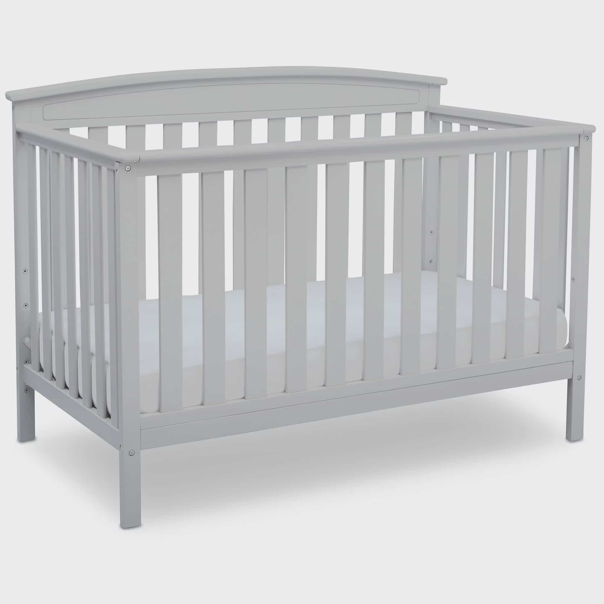 Delta Children Gateway 4 In 1 Convertible Crib White Walmart Com Walmart Com