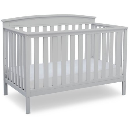 Delta Children Gateway 4-in-1 Convertible Crib, White (White 4 In 1 Baby Crib)