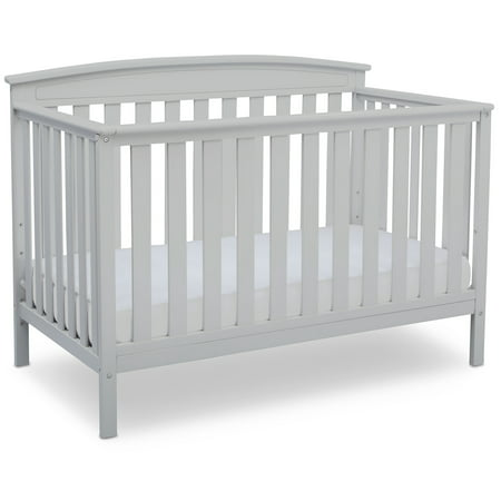 Delta Children Gateway 4-in-1 Convertible Crib, White Simplicity Baby Furniture