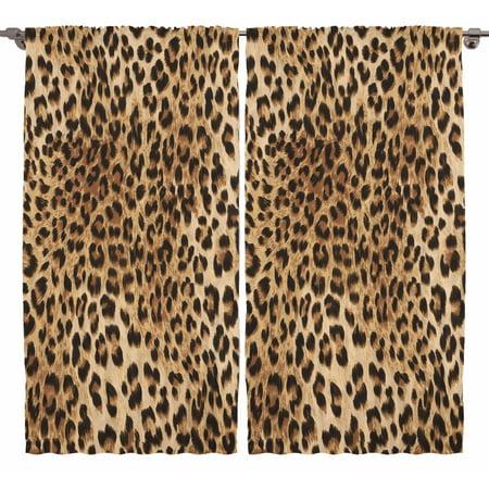 Leopard Tiger Zebra Print Bedroom Living Room Dining Kids Room Curtains 2 Panel ()