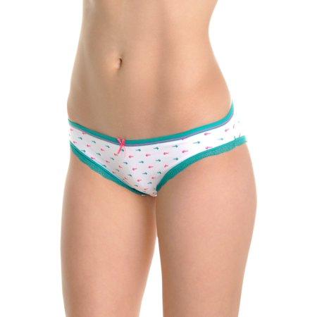 Angelina Cotton Bikini Panties with Fishbone Print Design