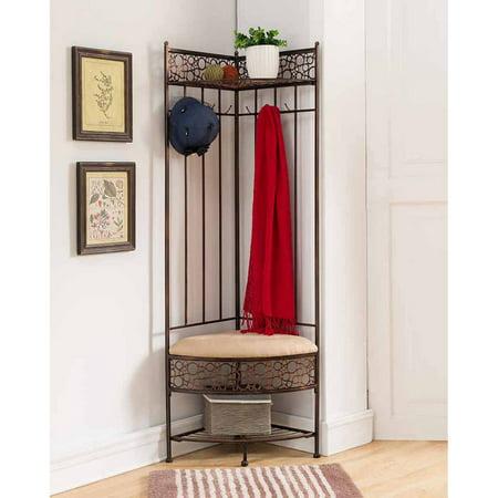 K Furniture Copper Metal Corner Hall Tree