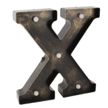 Bedroom Plastic English X Letter Alphabet DIY Hanging  Light Bronze Tone (English Bronze Hanging)