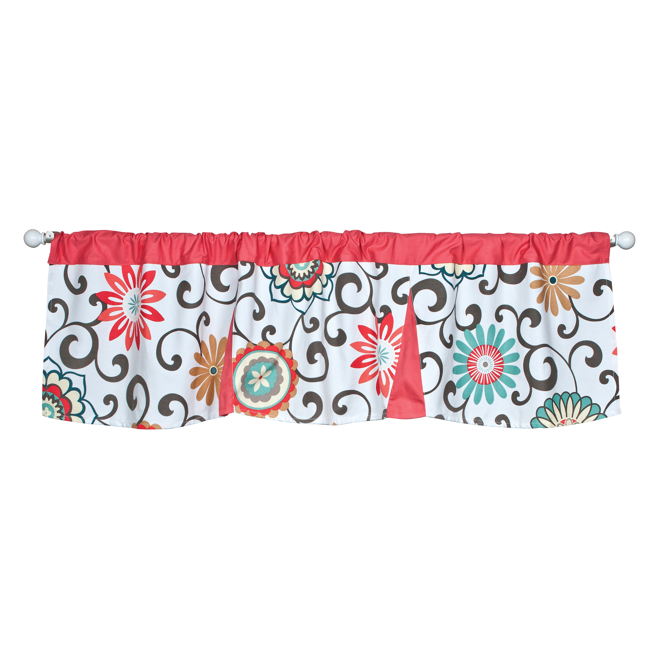 Waverly Pom Pom Play Floral Window Valance by Waverly