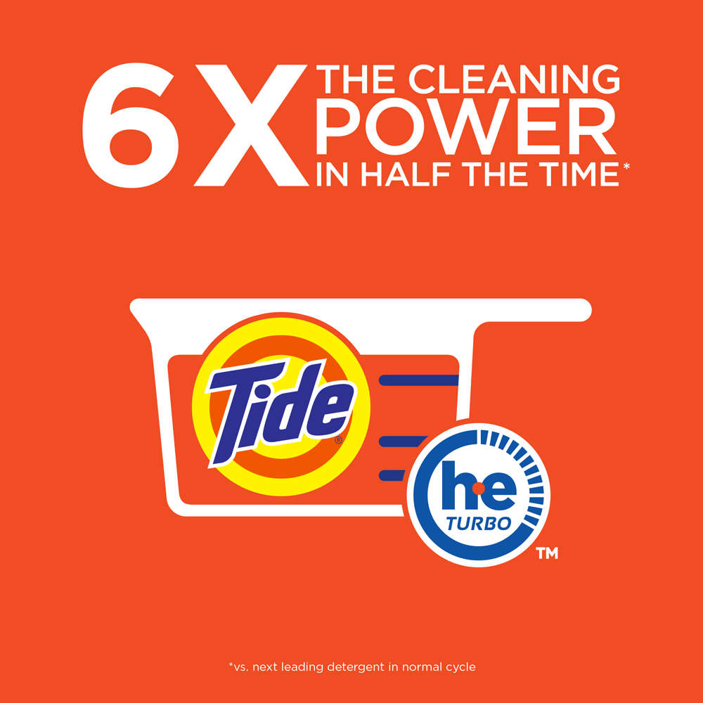 High Efficiency Detergent Vs Regular Tide With Bleach Alternative He Turbo Powder Laundry Detergent