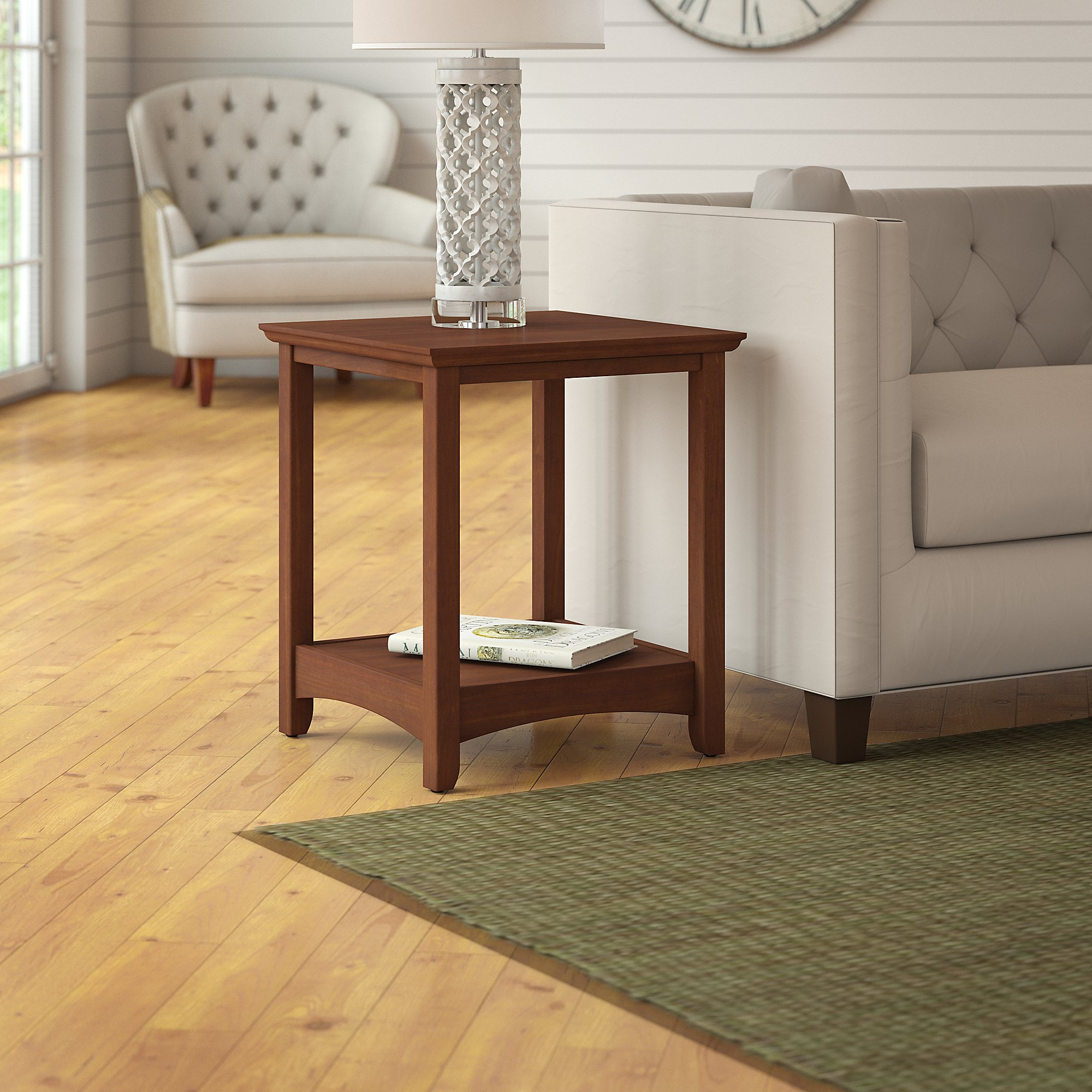 Bush Furniture Buena Vista End Tables in Madison Cherry