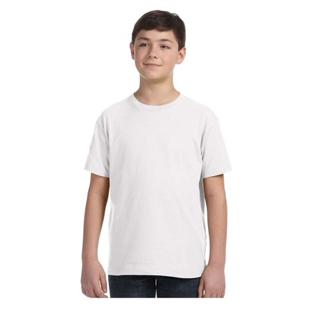 LAT Big Boy's Fine Ribbed Collar Fine Jersey T-Shirt, Style 6101