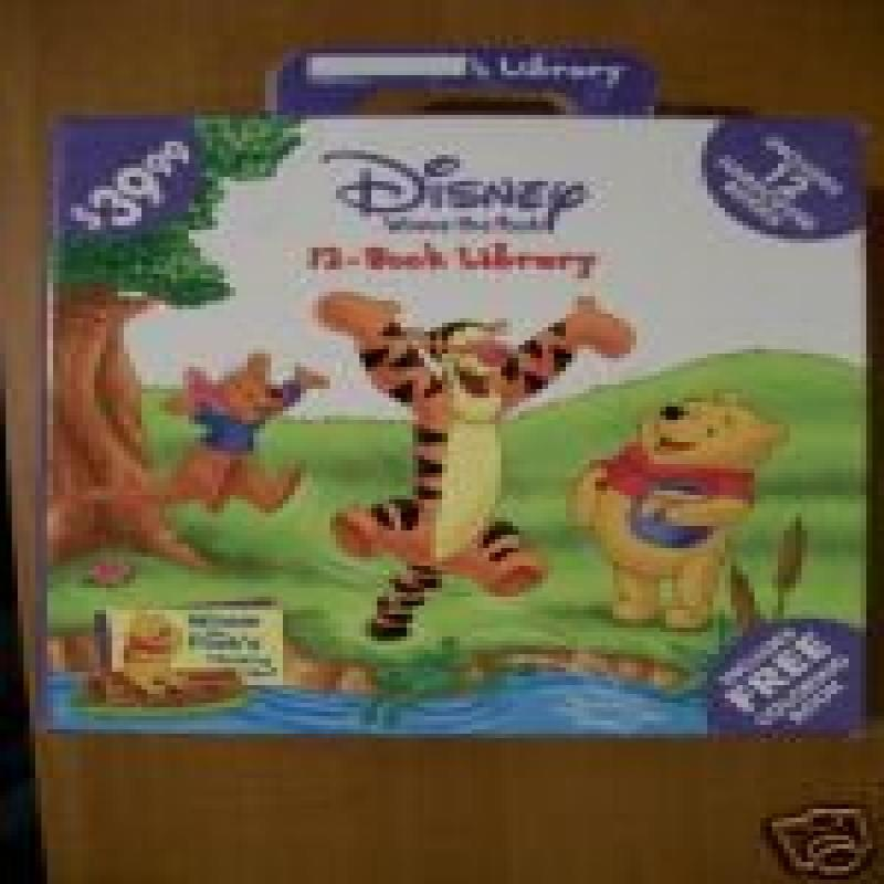 Disney Winnie the Pooh- 12 Book Library Set by