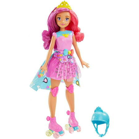 Barbie Video Game Hero Match Game Princess Doll with Roller Skates](Halloween Barbie Games)