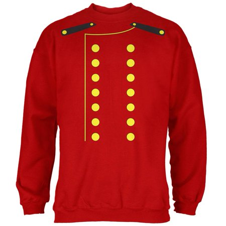 Halloween Hotel Bellhop Costume Red Adult Sweatshirt (The W Hotel Boston Halloween)