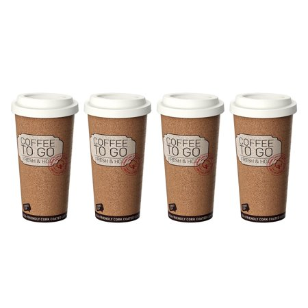 Life Story Corky Cup 16 oz Reusable Insulated Travel Mug Coffee Thermos (4 Pack) (Thermos Insulated Cup)