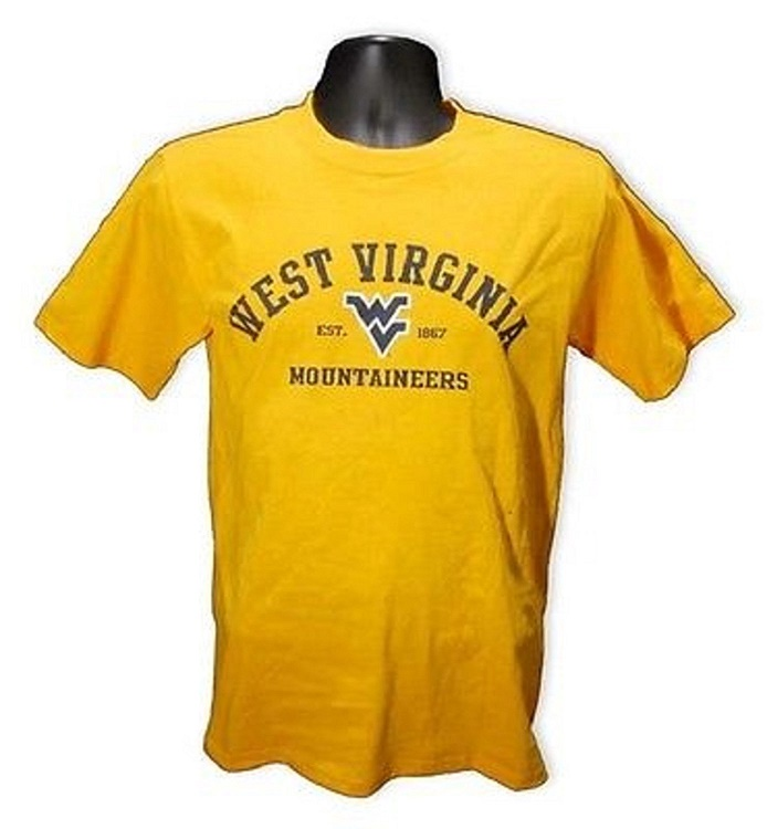 West Virginia Mountaineer's Gold Arch Lettering Shirt XXL