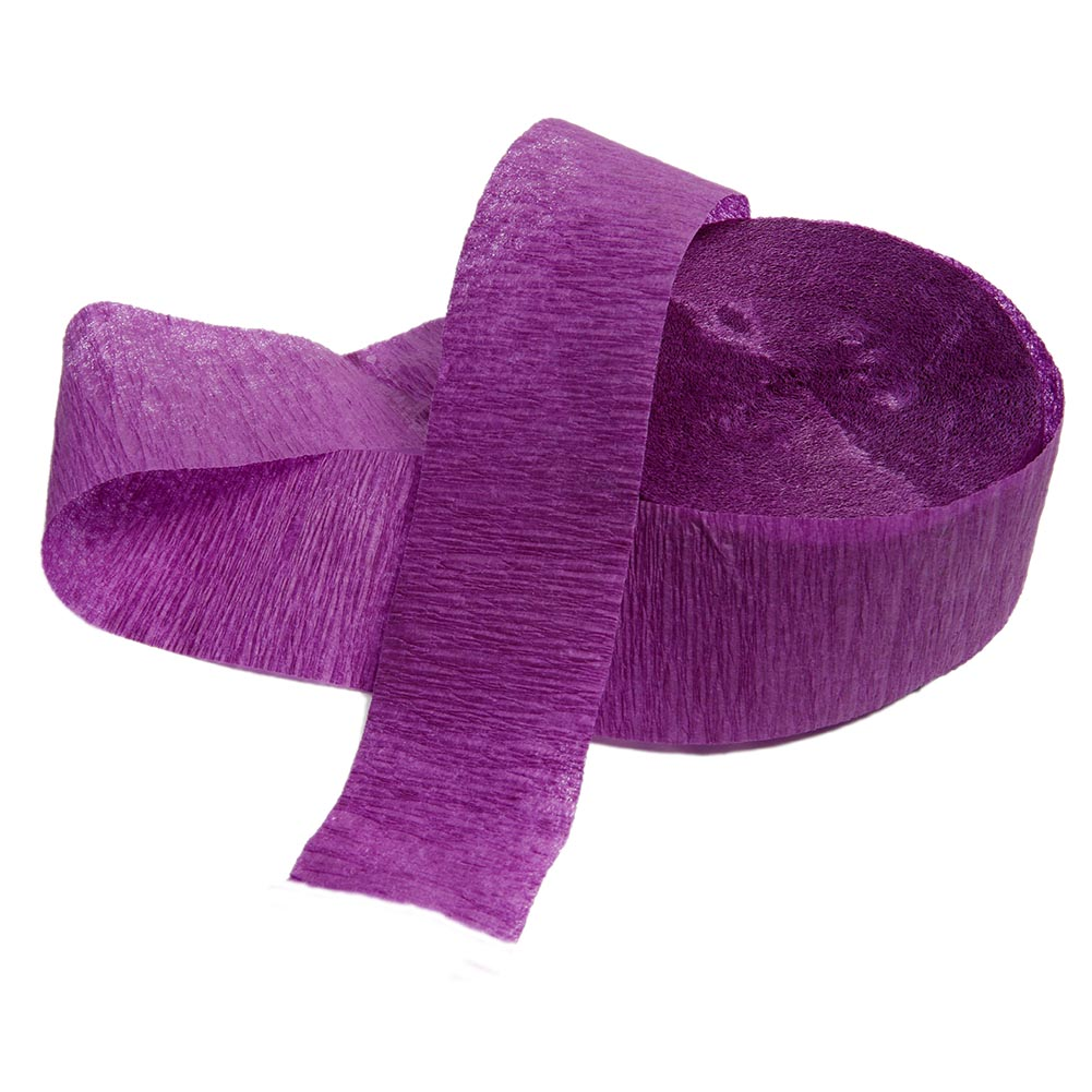 (2 Pack) Crepe Paper Streamers, 81 ft, Purple, 1ct