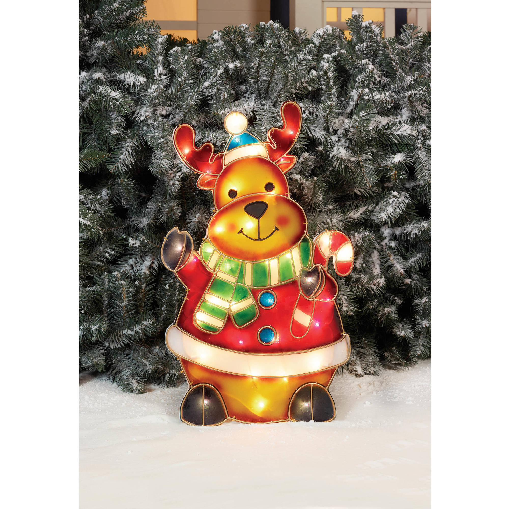 "Holiday Time Christmas Decor 24"" Prismatic Reindeer Sculpture"